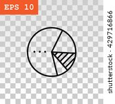 pie chart icon vector.