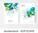 scatter triangles   vector... | Shutterstock .eps vector #429721945