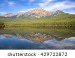 Pyramid Mountain Lake Landscap...