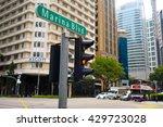 marina boulevard in singapore.... | Shutterstock . vector #429723028