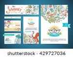 set of corporate underwater... | Shutterstock .eps vector #429727036