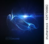 3d illuminated digital neon... | Shutterstock .eps vector #429730882