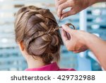 closeup of hands doing hair | Shutterstock . vector #429732988