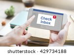 message inbox notification icon ...   Shutterstock . vector #429734188