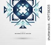 geometric vector background.... | Shutterstock .eps vector #429738205