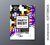 party flyer template. vector... | Shutterstock .eps vector #429738826