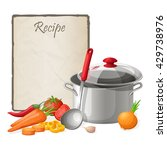 recipe card. kitchen note blank ... | Shutterstock .eps vector #429738976