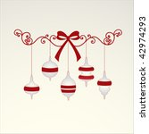 elegant coil bow and hanging... | Shutterstock .eps vector #42974293