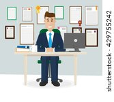 businessman in the office... | Shutterstock .eps vector #429755242