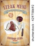 steak menu design with graphic... | Shutterstock .eps vector #429758692