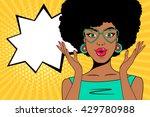 wow pop art face. sexy... | Shutterstock .eps vector #429780988
