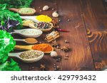 beautiful colorful spices in... | Shutterstock . vector #429793432