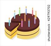 chocolate cake birthday.... | Shutterstock .eps vector #429793702