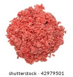Minced Meat Isolated On A Whit...