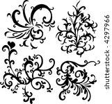 ornamental vector design... | Shutterstock .eps vector #4297966