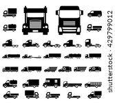 various truck silhouettes.... | Shutterstock .eps vector #429799012