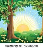 summer landscape | Shutterstock .eps vector #42980098