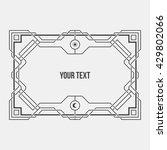 monochrome art deco geometric... | Shutterstock .eps vector #429802066