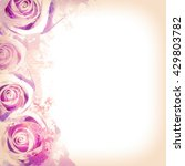 background with flowers....   Shutterstock . vector #429803782