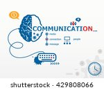 communication design... | Shutterstock . vector #429808066