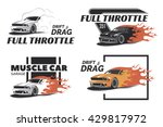 set of muscle car logo  badges... | Shutterstock .eps vector #429817972
