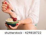 closeup of woman's hands... | Shutterstock . vector #429818722