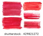 watercolor red steins drops... | Shutterstock .eps vector #429821272