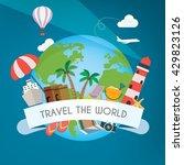 travel the world | Shutterstock . vector #429823126