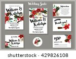 suite of daisy  hibiscus flower ... | Shutterstock .eps vector #429826108