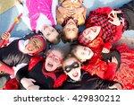 Group Of Kids On Halloween...