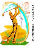 concept of sportsman playing... | Shutterstock .eps vector #429837595