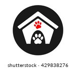 paw cage image vector icon logo | Shutterstock .eps vector #429838276