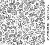 cartoon hand drawn space ... | Shutterstock .eps vector #429844192