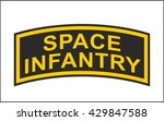 fantastic military patch | Shutterstock .eps vector #429847588