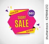 sale banner. | Shutterstock .eps vector #429848152