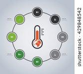 minimal eco infographics...