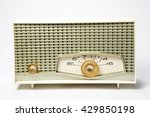 antique table radio from the... | Shutterstock . vector #429850198