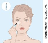 how to apply a concealer.... | Shutterstock .eps vector #429853096