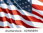 photo of american flag waving... | Shutterstock . vector #42985894