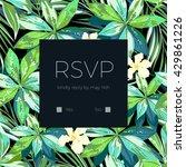 wedding invitation or card... | Shutterstock .eps vector #429861226