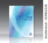 annual report cover. brochure... | Shutterstock .eps vector #429862228