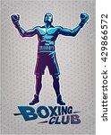 boxer. sport logo illustration | Shutterstock .eps vector #429866572