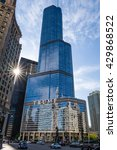 Small photo of Chicago / USA, 30 May 2016, Trump International Hotel & Tower owned by Donald John Trump, presumptive nominee of the Republican Party for President of the United States in the 2016 election Illinois