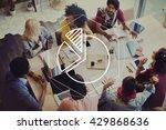 pie chart analyse statistic... | Shutterstock . vector #429868636
