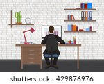back view of business man... | Shutterstock .eps vector #429876976