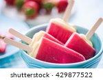 Sorbet Popsicles In Bowl  Fres...