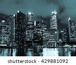 the cityscape architecture... | Shutterstock . vector #429881092