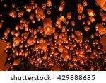 floating lantern  yi peng... | Shutterstock . vector #429888685