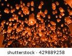 floating asian lanterns in yee... | Shutterstock . vector #429889258