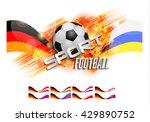 football design over orange... | Shutterstock .eps vector #429890752